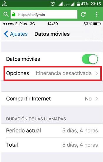¿Cómo se activa y desactiva el roaming en los principales operadores?