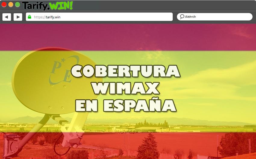 ¿Cuál es la cobertura del WiMAX en España actualmente?