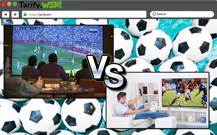 ¿Cuáles son las diferencias entre los paquetes de fútbol para bares y los convencionales para particulares?