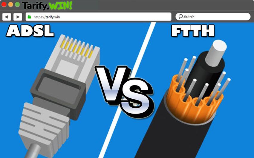 ¿Cuáles son las principales diferencias entre el Internet por ADSL y la fibra óptica?