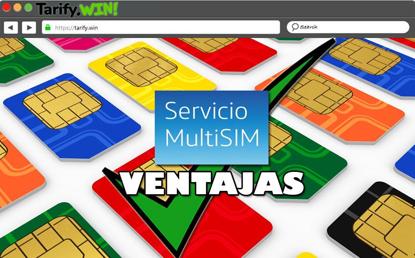 ¿Cuáles son las ventajas de contar con un servicio de MultiSIM?