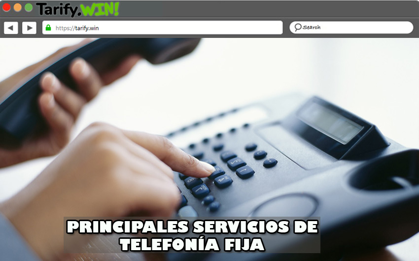 ¿Cuáles son los servicios de telefonía fija además del reconocedor de llamadas?
