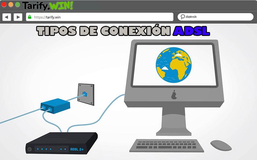 ¿Qué tipos de conexión ADSL hay y cuáles son sus características?