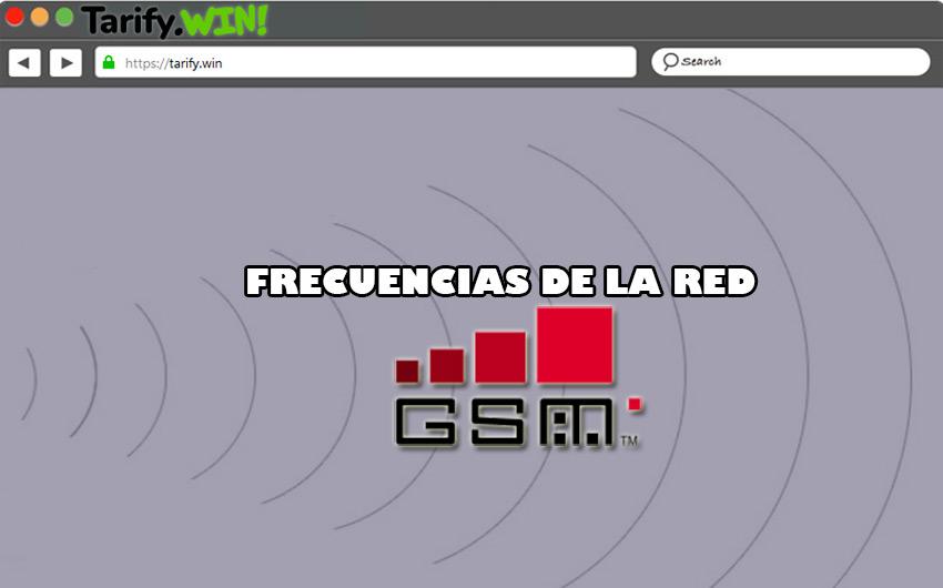 ¿Qué y cuáles son las frecuencias de la red Global System for Mobile Communication?