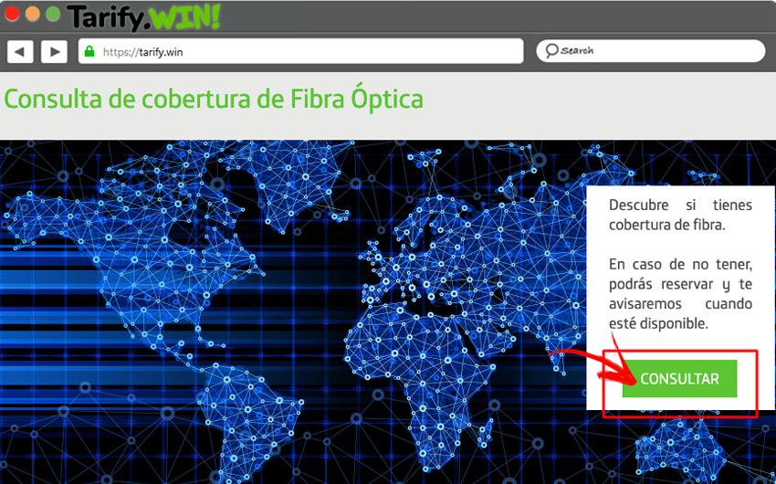Consulta cobertura de fibra optica Movistar
