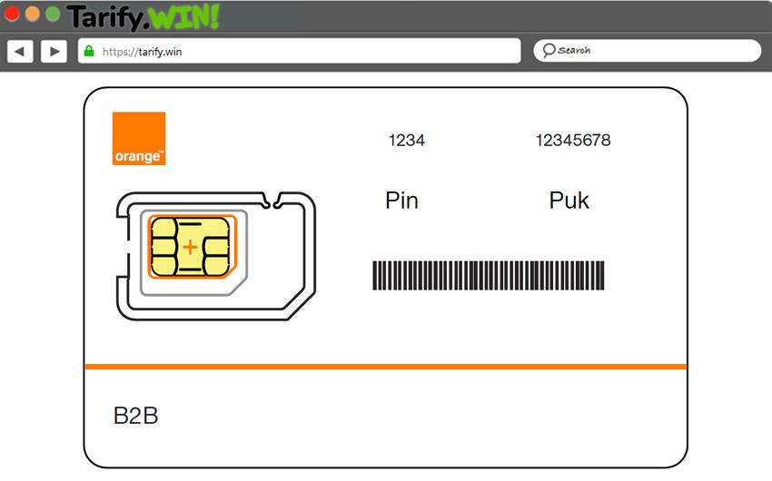 Ejemplo tarjeta SIM código PUK