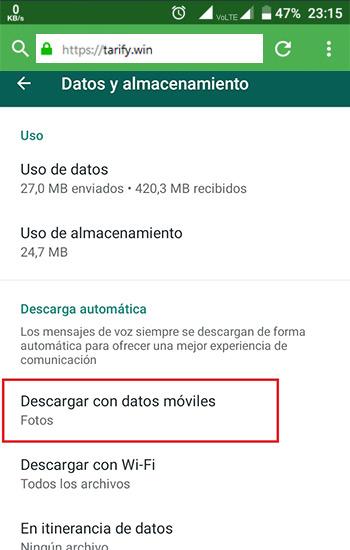 Evitar que los archivos de los grupos de WhatsApp se descarguen
