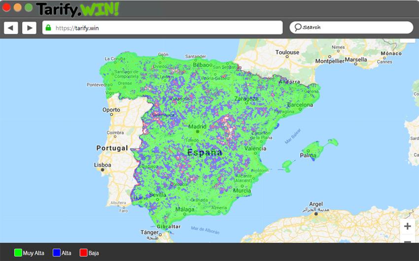 Mapa cobertura de Lowi
