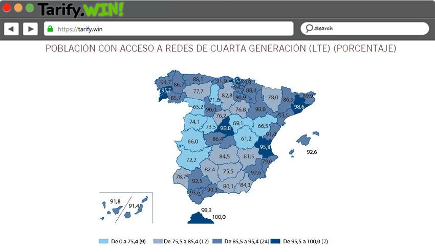 Mapan 4G Cobertura España