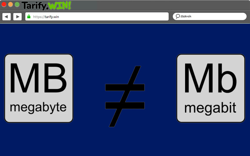 Megabits-y-megabyte