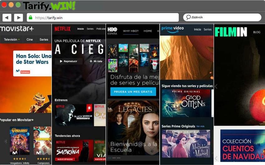 Plataformas y canalas para ver series y películas.