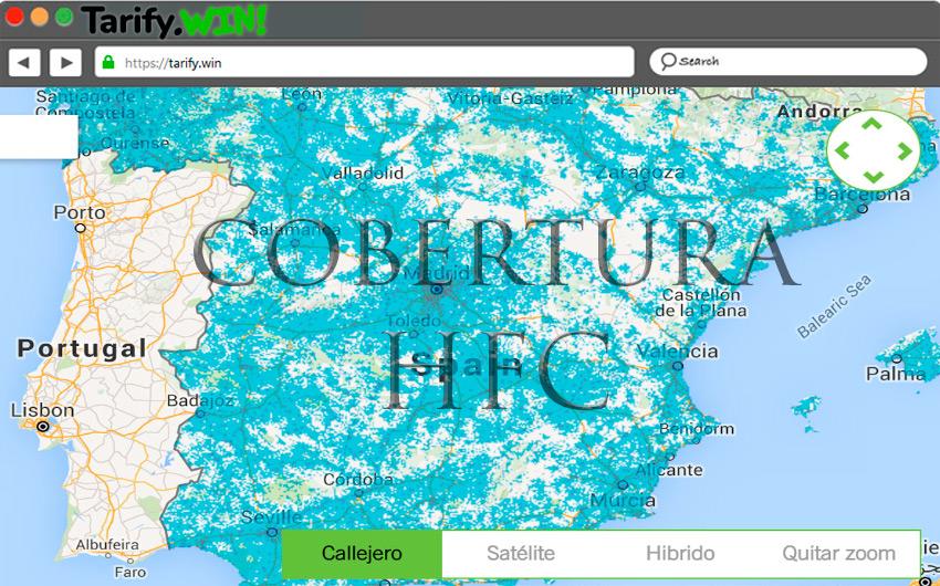 ¿Qué cobertura tiene la tecnología HFC en España?