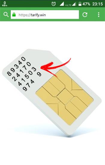 Número ICC de tarjeta SIM